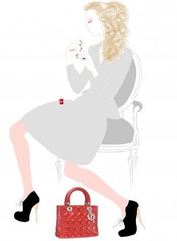 Link to The Little Dior Diary: The red bag