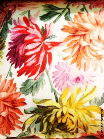 Link to Paris: Fresh flower pillow
