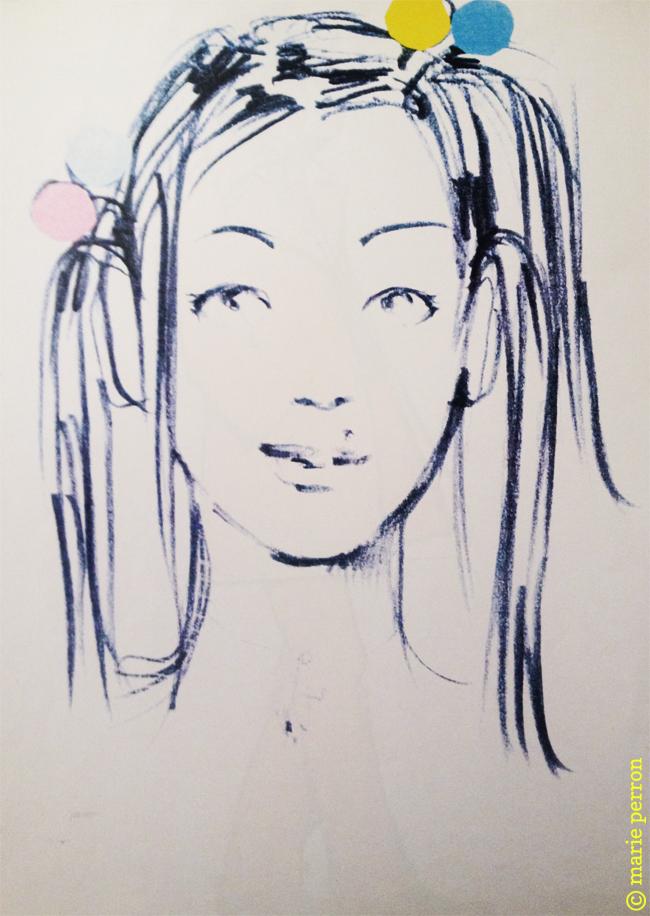 illustration pour ELLE 1995