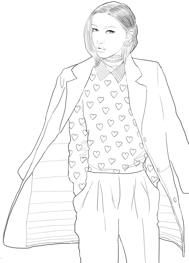 Fashion coloriage Ali net