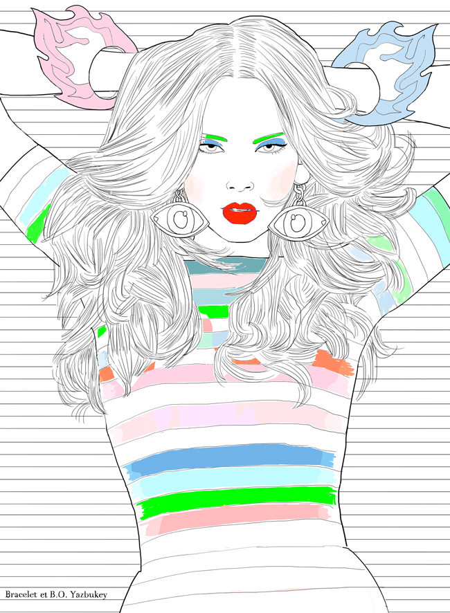 Fashion coloriage Yazbukey BO net