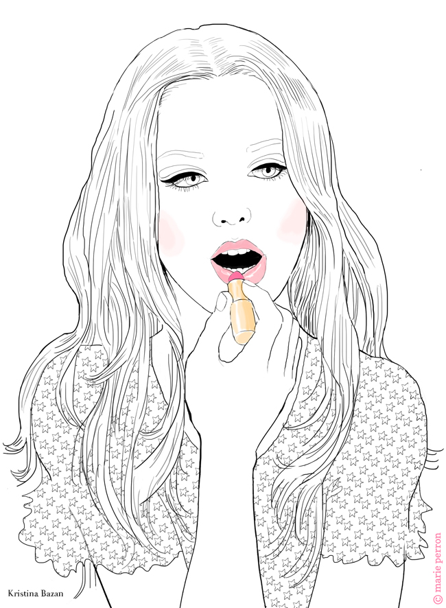 My Make-up coloriages Kristina Bazan