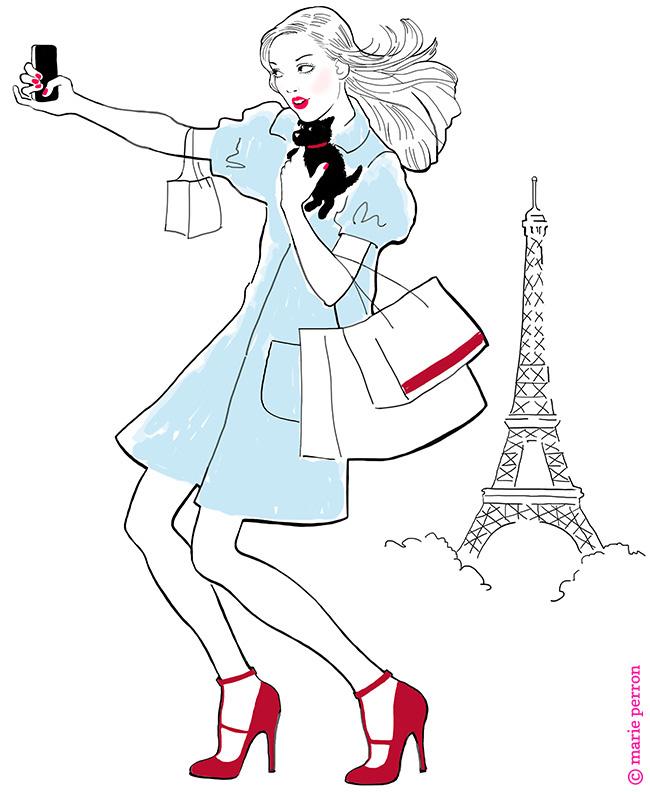 Girl selfie in paris