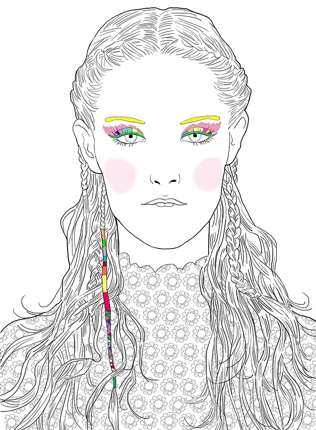 make up coloriages marie perron