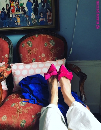 Link to My pink silk mules